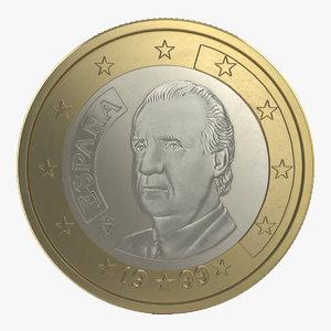 1 euro coin espana 3d 3ds