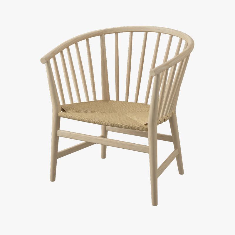 chair pp hans j 3d dwg