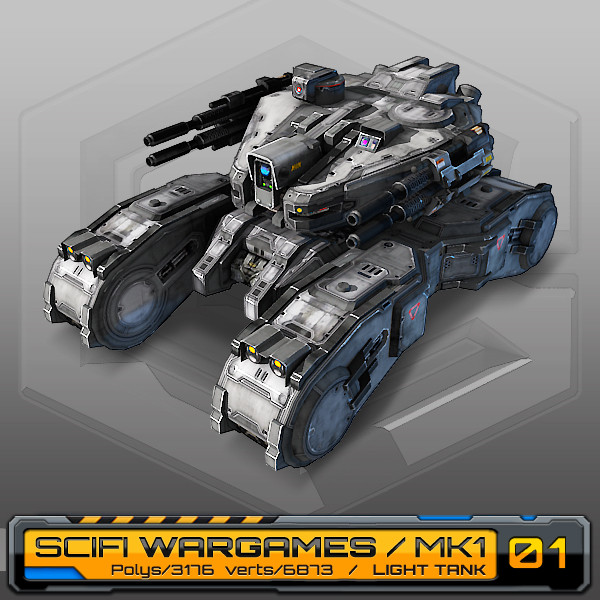 3d scifi light tank mk1