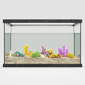 aquarium corals 3d model