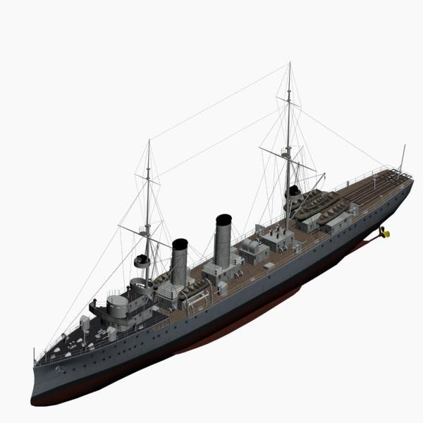 3d model cruiser albatross imperial german