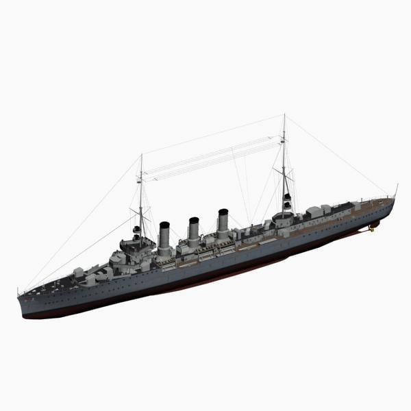 cruiser coeln 1918 imperial 3d max