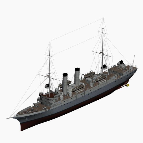 3d model of cruiser nautilus imperial german
