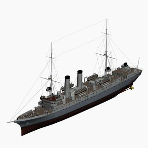 3d model of cruiser nautilus imperial german