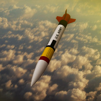 patriot rocket 3d model