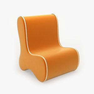 ozo bone chair 3d model