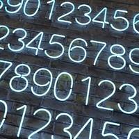 neon numbers alphabet