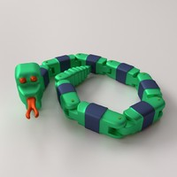 3d toy snake model