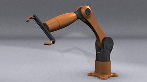 3d model kuka robot arm