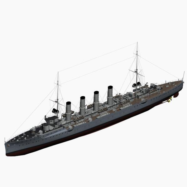 magdeburg class cruiser imperial 3d max