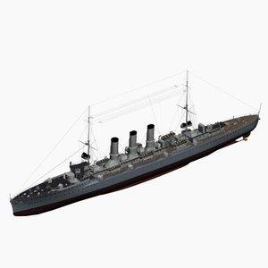 graudenz class cruiser imperial 3d model