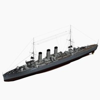 Small Cruiser Wiesbaden Class Imperial German Navy