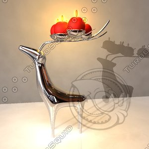 candle holder 3d obj