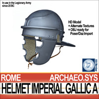 3dsmax roman legionary helmet imperial