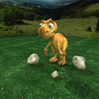 dino cartoon 3d model