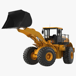 3ds max generic end loader rigged