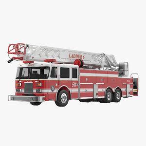 3d model ladder truck