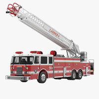 Ladder Fire Truck Rigged