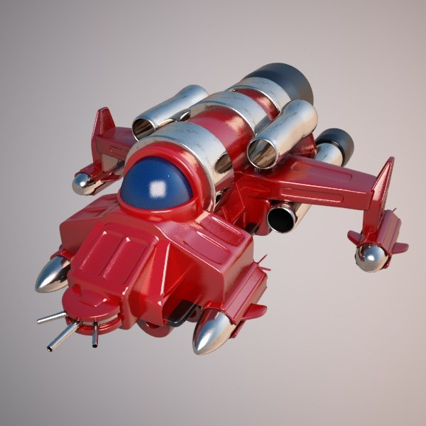 space fighter spaceship 3d model