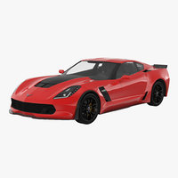 Chevrolet Corvette 2015 Rigged 3D Model