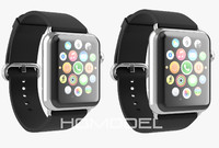 3d apple watch stainless steel model