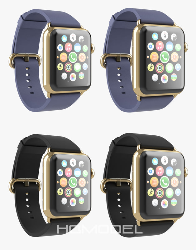 apple watch edition gold 3d model