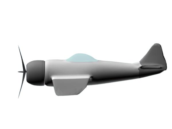 aircraft p 47 3d model
