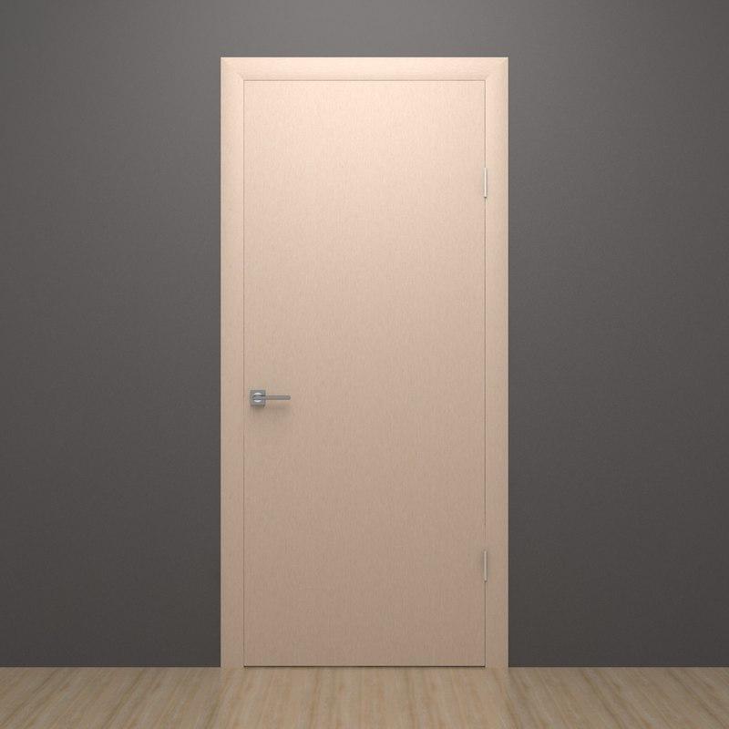 Simple door 3d model for Door 3d model