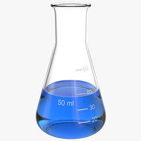 3d model 50 ml erlenmeyer flask