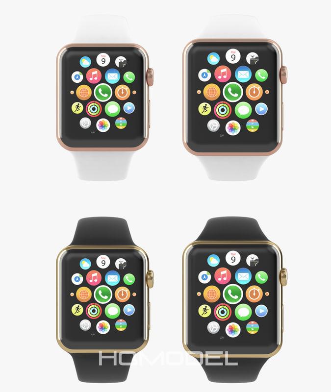 3d apple watch edition yellow model