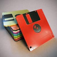 free floppy disk storage 3d model
