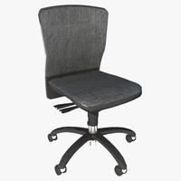 3d armless office chair