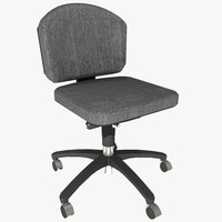 armless office chair 2 3d model