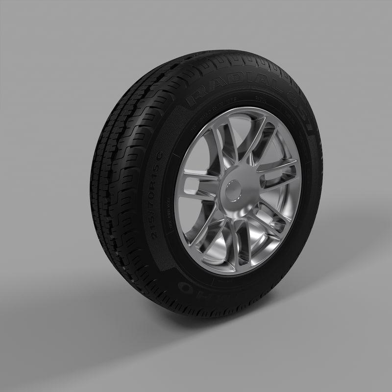 wheel sport 3d model