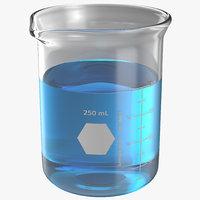 3d 250 ml beaker