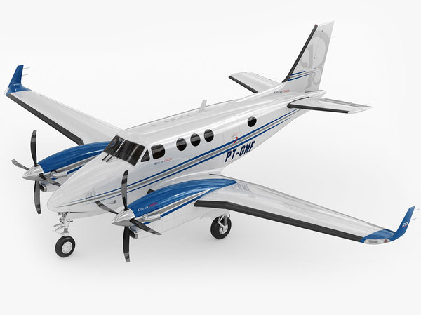 beechcraft beech king 3d 3ds