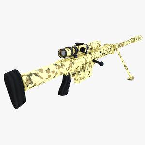 3d anzio 20mm vulcan rifle model
