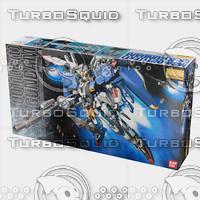 3d bandai gundam box model