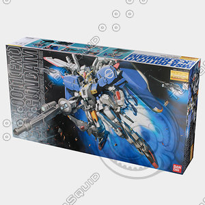 3d bandai gundam box model