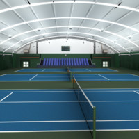 3ds max indoor tennis courts