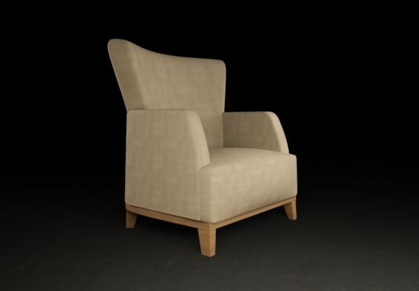 free armchair chair modern 3d model