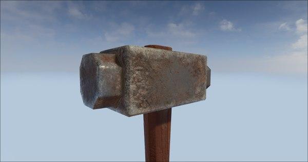 free obj model sledge hammer