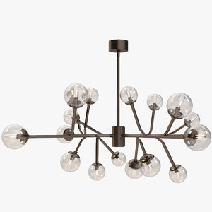 3d model of dallas chandelier
