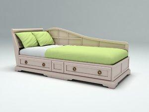 3d model bed admiral