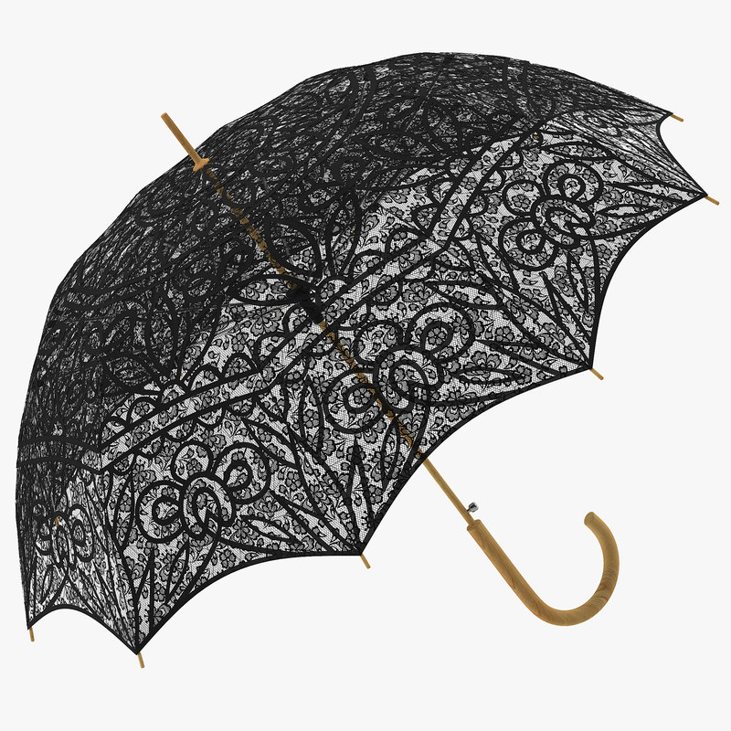 parasol umbrella black c4d