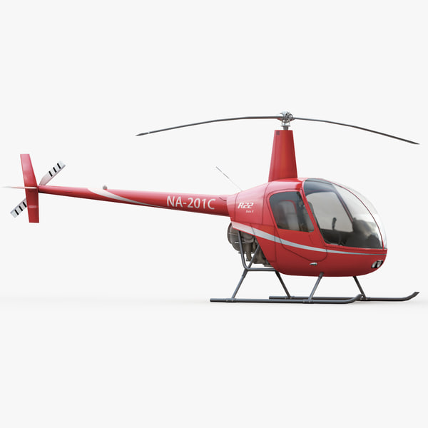 robinson r22 helicopter interior 3d max