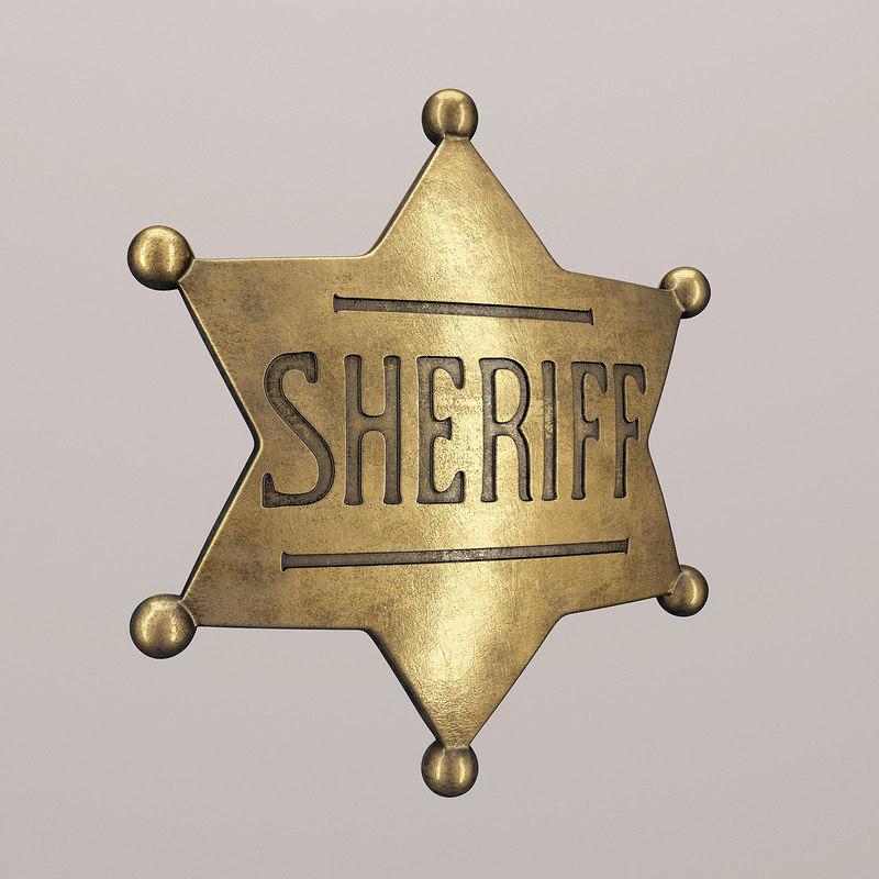 sheriff badge 3d max