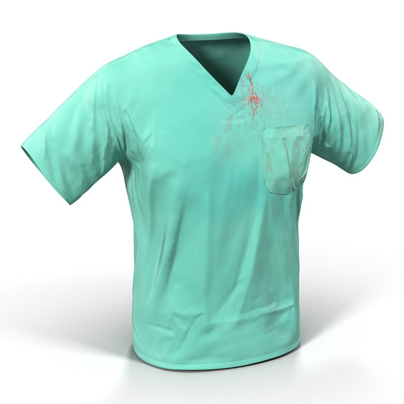 3d surgeon dress 20 blood