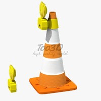 Orange Safety Cone with Lamp