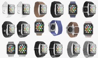 3d apple watch stainless steel model